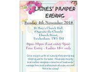 Ladies' Pamper Evening - Sunday 4th November 2018, Twickenham.
