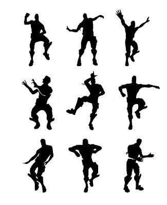 Night Water Bottles - 9 X nite xbox dancing men wall stickers SIZE 10CM tall, fort water Bottles ect