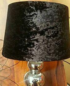 Chrome lamp and 2 Cream Italian style bases
