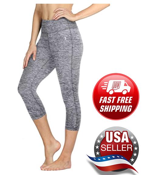 active athletic capri leggings cropped yoga workout