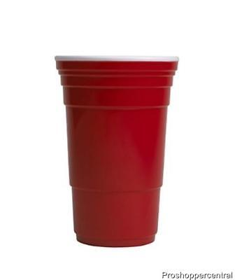 32 Oz Cups (Celebrate The Season Red Party Cup 32 oz - Set of 4, Double Wall)
