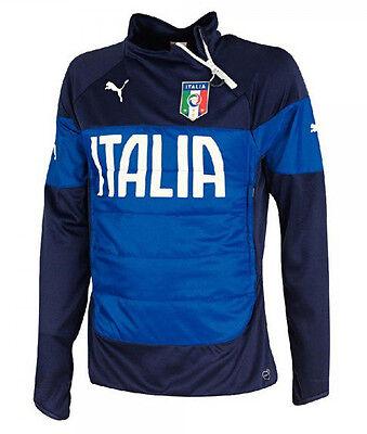 Puma FIGC ITALIA Herren Trainingstop Fussball Padded Sweatshirt  Gr. L - 2XL  Fußball Sweatshirt
