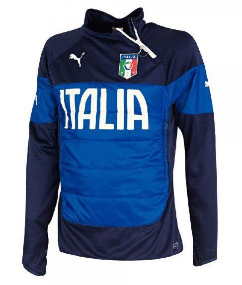 Puma FIGC ITALIA Herren Trainingstop Fussball Padded Sweatshirt  Gr. L - 2XL