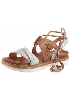 Walking Sandalen (Sandale von I´m walking aus Leder , Gr. 39 , silber)