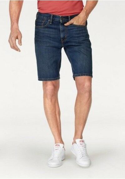 Levi´s ® 502 Jeans Shorts NEU Herren Bermuda Denim Slim Kurze Hose Blue Levis