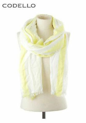 Streifen-Schal Codello. Gelb-weiß, 200x70 cm. NEU!!! KP 49,95 € %SALE%