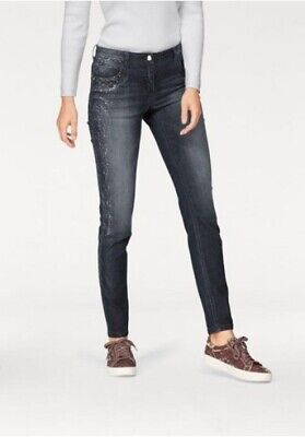 Tamaris Damen Jeans dark blue Denim in Gr. 34, 36, 38, 40 Dark Blue Denim
