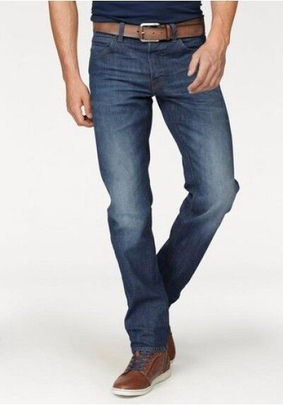 JEANS LEE Daren Uomo Stretch Denim Pantaloni Blue Used Slim Fit l32 NUOVO L 706 cdjw