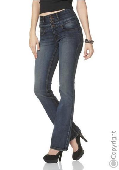 Details zu Arizona High Waisted Bootcut Jeans K Gr.17 (34) L30 NEU Damen Hose Stretch Denim