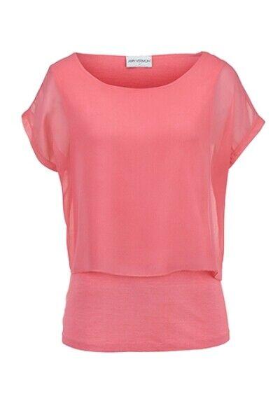 Amy Vermont Shirt in doppellagiger Verarbeitung. Koralle. NEU!!! SALE%%%