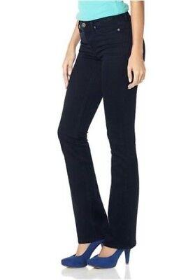 Arizona Skinny Bootcut Jeans Lang-Gr.76-80 NEU Damen Hose Rinsed Stretch Denim ()