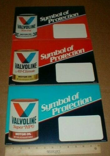 3 Valvoline Racing Motor oil Super HPO Vtg dealer Can Display lot Rare 1983 new