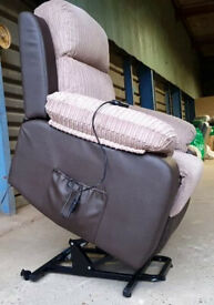 Unused With Few Marks Riser Recline Fabric Chair - Natural/Brown.