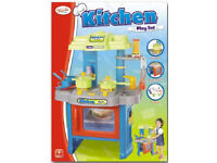 JOB LOT TOYRIFIC KITCHEN MASTER CHEF NURSERY SCHOOL PLAY SET OVEN HOB SAUCEPANS LIGHTS & SOUND