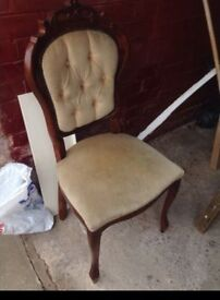 French style / rococo dining chairs / shabby chic project