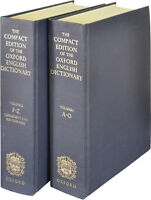 oxford compact dictionnary in 2 books