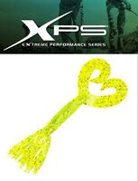 Xps Creatura Skirted Double Tail Grubs 4'' Col. Chartreuse Salt N Pepper -  - ebay.it