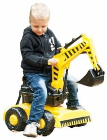 KIDS RIDE-ON EXCAVATOR & TRAILER new