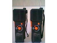 Pair of Vintage Walkie Talkie/Morse Code Two Way Radios