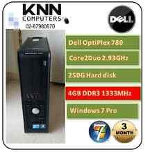 Dell Optiplex 780 C2D 2.93GHz 4G 250G HDD W7 Pro - Sale!! Sale!! West Hoxton Liverpool Area Preview