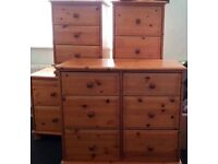 Wood bedroom furniture 5 piece