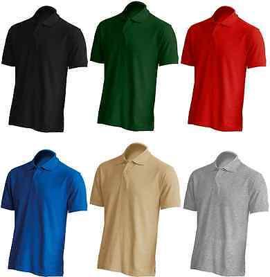 JHK PREMIUM Piqué-Polo-Shirt T-Shirt Poloshirt 100% Baumwolle S M L XL XXL 2XL ()