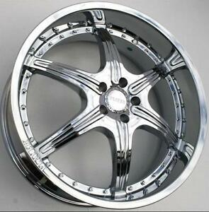 20 INCH NEW CHROME BMW RIMS - DEEP DISH 5X120 - SALE -HIGH QUALITY CHROME