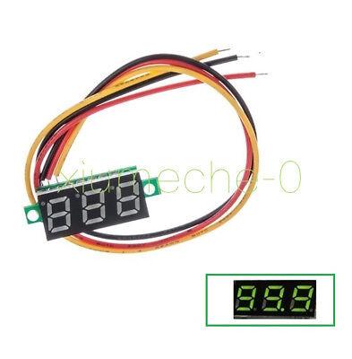 0.28 Green 3-wire Led Dc 0-100v Voltmeter Digital Display Voltage Panel Meter M