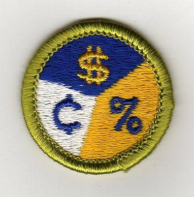 Personal Finances Merit Badge, Type H, Clear Plastic Back (1972), Mint!