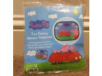 NEW Peppa Pig car sunshades x2