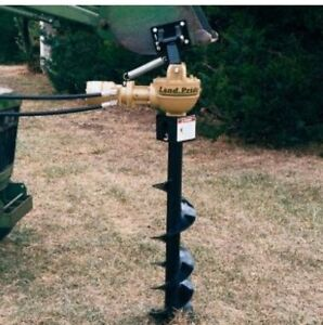 NEW Land Pride hydraulic post hole auger