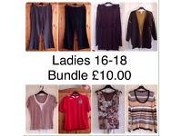 LADIES 16-18 BUNDLE OF WOMENS CLOTHES