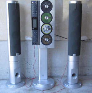 Slim Tower Audio System CD * Vintage Sanyo * Speakers - HP -----