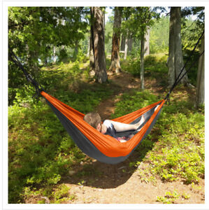 Portable 2 Person Hammock Rope Hanging Swing Fabric Camping…1343