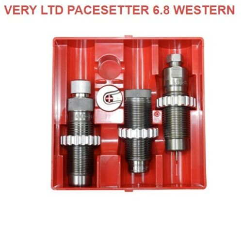 LEE Very Limited Production Pacesetter 3 Die Set 6.8 Western New in Box 91750
