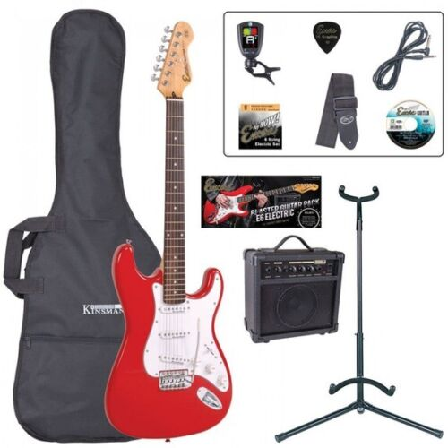 Encore E6 Electric Guitar Outfit - Red Let's Learn To Play Guitar At Home Now