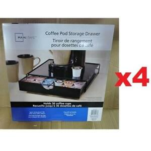4 NEW MAINSTAYS COFFEE POD STORAGE COMIN16JU002277 183566810 DRAWER KEURIG K CUP