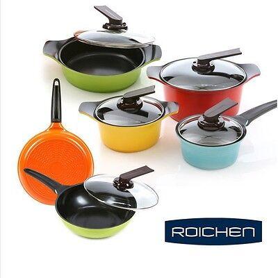 ROICHEN ECO Friendly Ceramic Nonstick Saucepan,Casserole,fry pan Cookware 6 Set