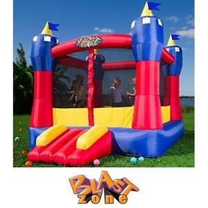 NEW BLAST ZONE MAGIC CASTLE INFLATABLE BOUNCER - 119093796 - WITH BLOWER Toys Outdoor Play Bounce Houses Ball Pits BO...