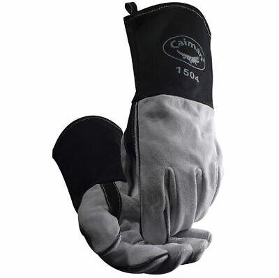 Caiman 1504 Welding Gloves 1504-1 Mig Stick Cow Split Fr Duck Cuff Kontour