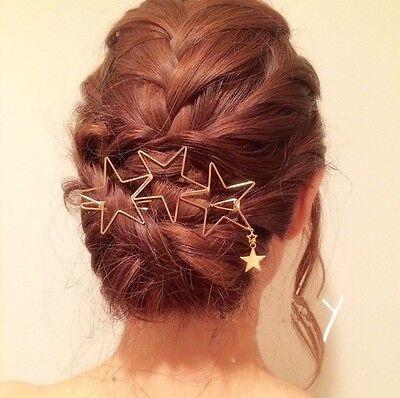Damen Haarnadeln Sterne Haarspange Haarschmuck Kopfschmuck Haarklammer