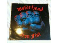 Motorhead Iron Fist lp 1982