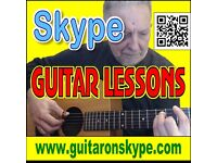 Skype Guitar Lessons, over 45 years playing, over 25 years teaching