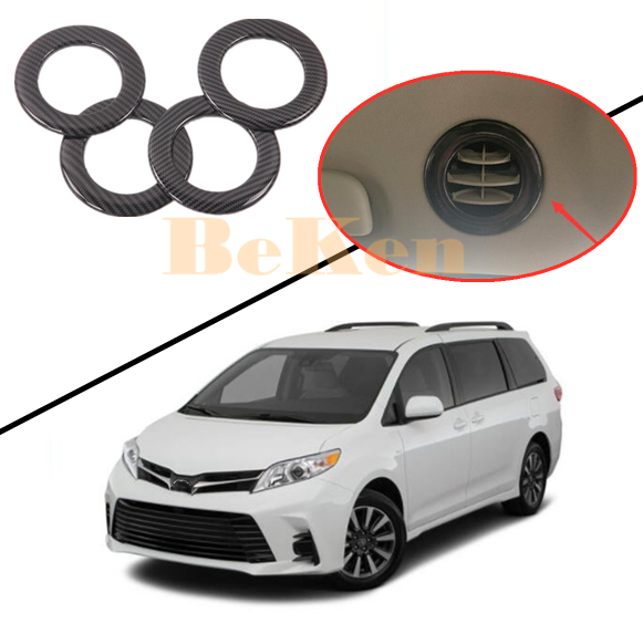 Fit Toyota Sienna 2015 2016 Matte Car Rear Air Condition Vent Outlet Cover Trim