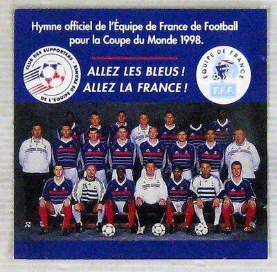Football cds promo allez les bleus allez la france 1998 ebay - Hymne coupe du monde 1998 ...