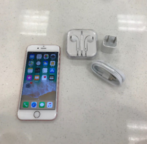 NEW CONDITION IPHONE 6S 128GB ROSE GOLD UNLOCKED WITH ACCESSORIE