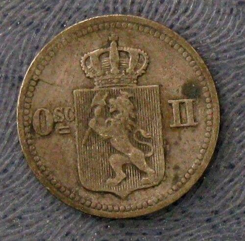1875 Norway 10 Ore -- KM #345 -- Choice VF