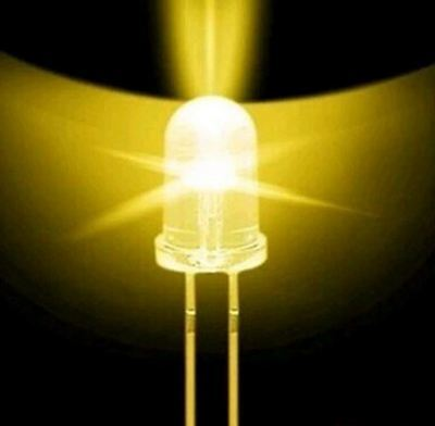 500pcs 5mm Led Diodes Water Clear Yellow Led Light Bulb Lamp