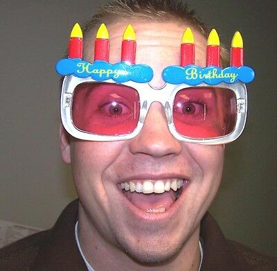 Happy Birthday Cake Party Glasses Costume Eye Wear Party Supplies