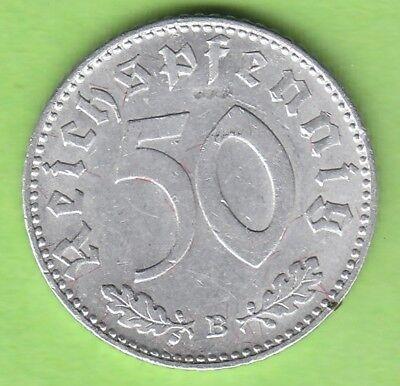 50 Reichspfennig 1943 B Wien hübsch nswleipzig